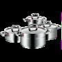 Set de Cacerolas Premium One de acero inoxidable | 4 piezas