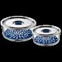 Juego 2 herméticos Top Serve redondos de cristal con rejilla interior
