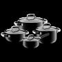 Set de Cacerolas Fusiontec Minel Black de hierro fundido | 4 piezas