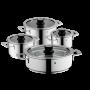 Set de Cacerolas Vario Cuisine de acero inoxidable   4 piezas