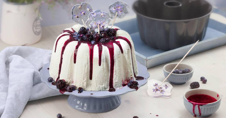 Weiße Schokolade-Vanille-Parfait