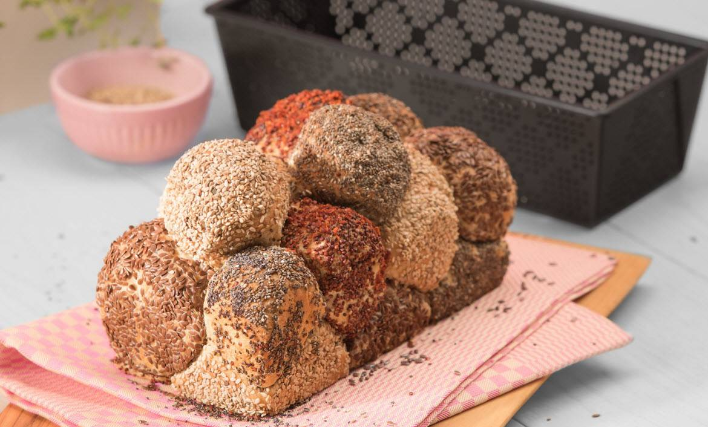 Buntes Brötchen-Brot