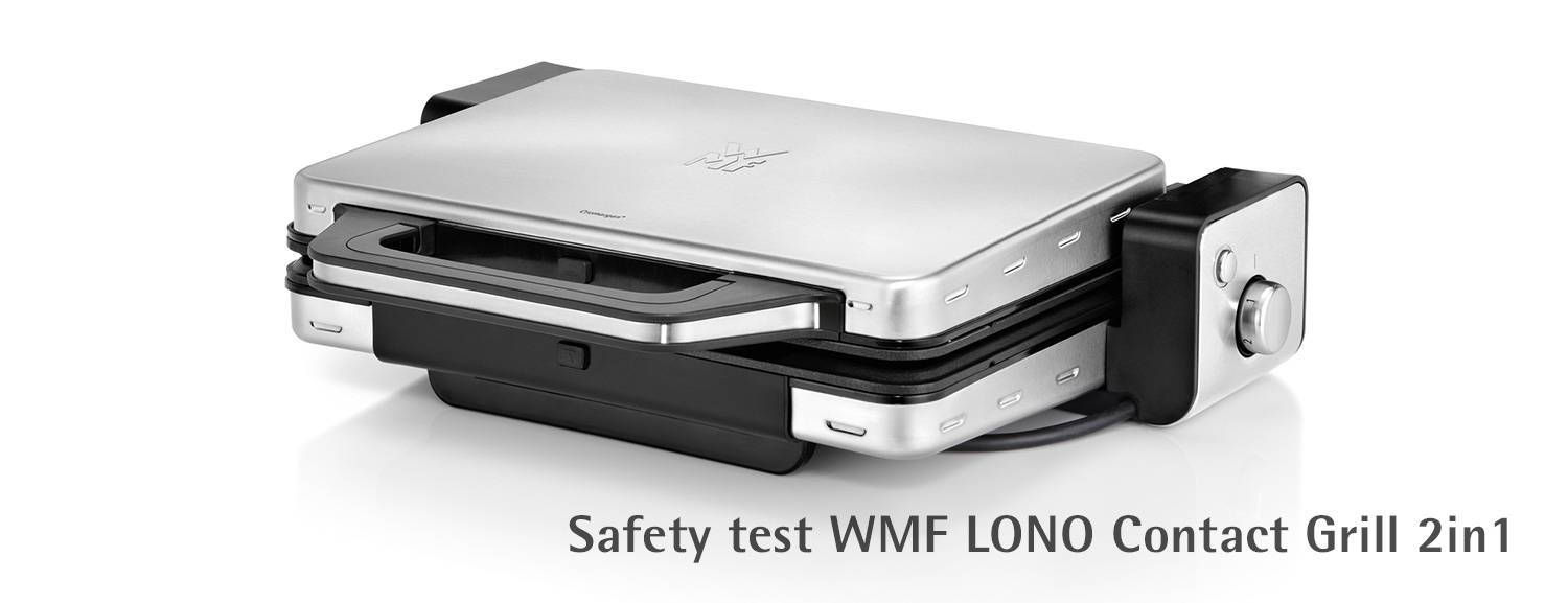 Safety check WMF LONO contact grill 2in1
