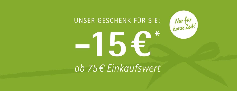15€ geschenkt