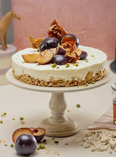 Fruchtiger Vanille Cheesecake mit süßer Note