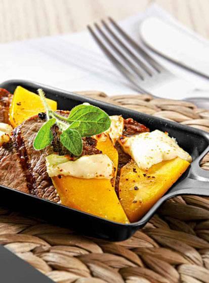 Rinderfilet mit Mango und Feta