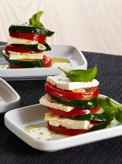 Tomate-Zucchini-Feta Grillpäckchen