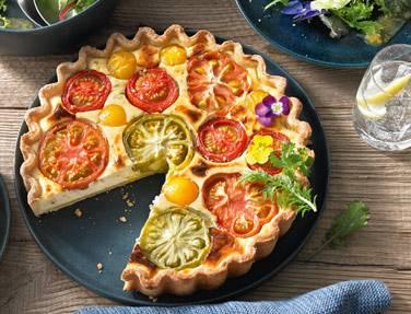 Bunte Tomaten-Quiche