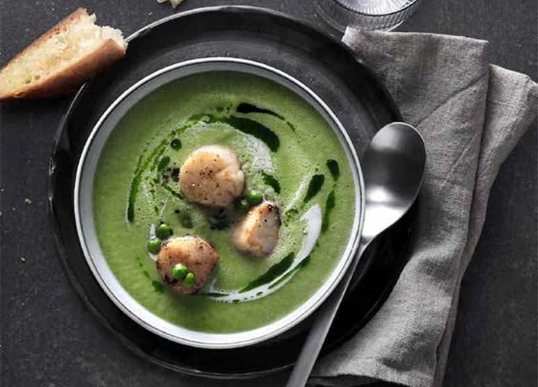 Scharfes grünes Gazpacho