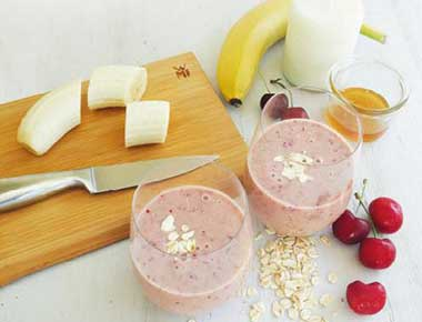 Cherry Banana Smoothie